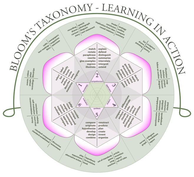 Bloom's Rose: Taxonomy of Learning Objectives